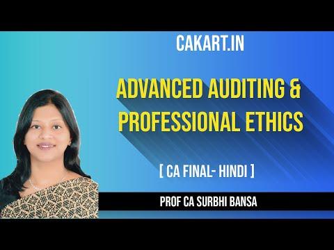 Advanced Auditing &  Professional Ethics by Prof Surbhi Bansal