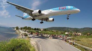 WTF!! Boeing 757 using the REVERSE GEAR - Skiathos Airport