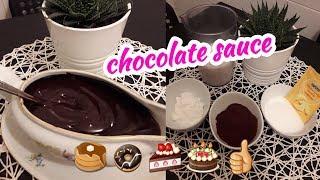 صلصة الشوكولا لتغطية جميع أنواع الكيك بأبسط المكونات موجودة في مطبخك 💕💕