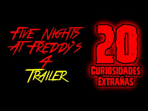 TOP 20: 20 Curiosidades Extrañas Del Trailer De Five Nights At Freddy's 4 | FNAF 4
