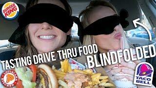 TASTING DRIVE THRU FOOD BLINDFOLDED - Video Youtube