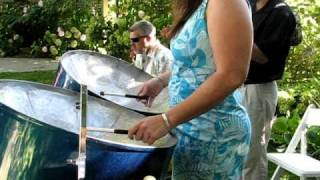 Spanish Eyes by Mollee, Nick & Ray - Steel Drum and Ukulele and Cajon.avi