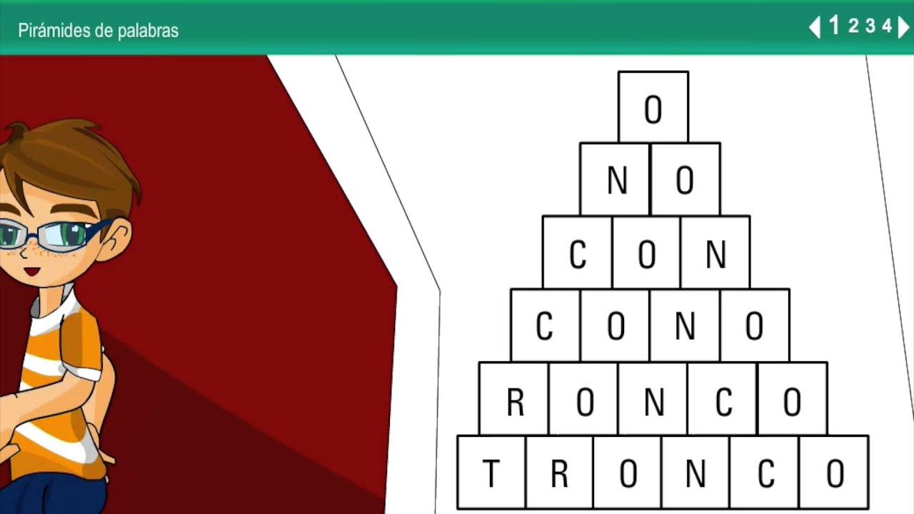 Actividades dislexia y lectoescritura Pirámide de palabras