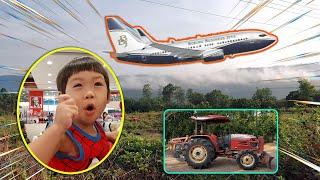 น้องภพ l เครื่องบินบนหมอกยอดเขา รอยรถไถ Plane Hill Foggy Tractor