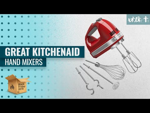 , KitchenAid KHM7210ER 7-Speed Digital Hand Mixer with Turbo Beater II Accessories and Pro Whisk – Empire Red