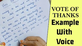 Vote of thanks speech in english - how to give vote of thanks - all function - students and others..