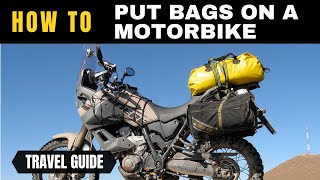 How to put luggage on a motorbike