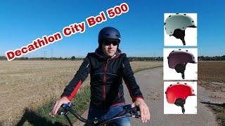 Decathlon City Bol 500 Helm im Test Review Fahrradhelm Btwin zum Pendeln