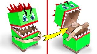How To Make A Money-Eating Coin Box From Cardboard