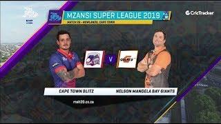 Highlights   Cape Town Blitz vs Nelson Mandela Bay Giants   Match 26   MSL 2019
