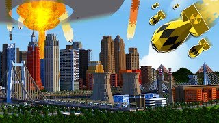 EXPLODING A MINECRAFT NUKE IN MINECRAFT'S LARGEST CITY?!