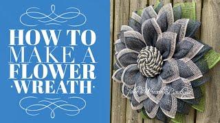 DIY Flower Wreath | How To Make A Flower Wreath | Flower Wreath Tutorial