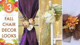 Fall Wedding Ideas | Top 3 Chair Decor Looks | BalsaCircle.com