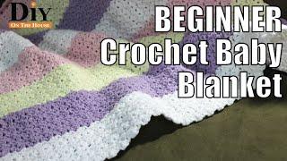 BEGINNER Crochet Baby Blanket - Crochet Pattern Tutorial EASY And FAST