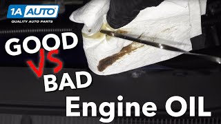 What Does Bad Car Engine Oil Look Like? Good Oil vs Bad Oil