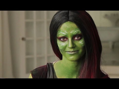Guardians of the Galaxy Gamora: Halloween Makeup Tutorial