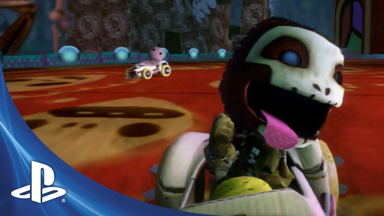 Sackboy Vira Vampiro no Novo Trailer de LBP Karting