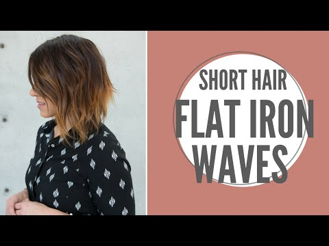 Short Hair Flat Iron Waves