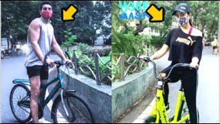 Sara Ali Khan And BROTHER Ibrahim Ali Khan Spotted CYCLING Around The City