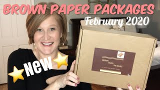 Brown Paper Packages | February 2020 | ⭐️New⭐️