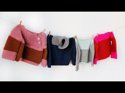 Trailer: 4 Pullis für Kleinkinder stricken