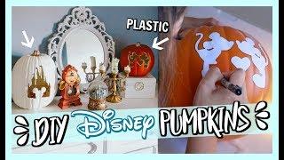 DIY DISNEY PUMPKINS! HOW TO CARVE PLASTIC PUMPKINS