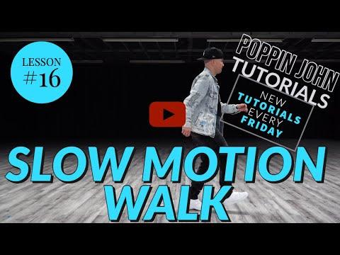 SLOW MOTION WALK | DANCE TUTORIAL #16 FOR BEGINNERS #POPPINJOHNTUTORIALS