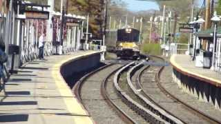 preview picture of video 'MTA LIRR: 2002-07 Bombardier M-7 LIRR at Cedarhurst (Far Rockaway Branch) (2/2)'