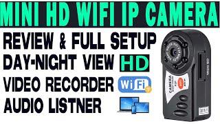 Wifi Q7 Mini IP Camera -(LAN, WAN, Night Vision)-Full Setup 📸📷