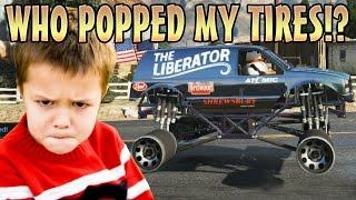 POP ALL CAR TIRES TROLLING! (GTA 5 Funny Trolling)