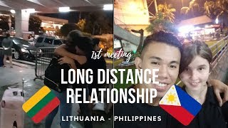 LDR - LONG DISTANCE RELATIONSHIP | MEETING FOR THE FIRST TIME | FILIPINO AND LITHUANIAN