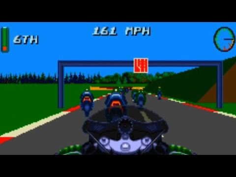 Kawasaki Superbike Challenge Game Review (3D Motorcycle Simulation) (HD Gameplay) (Sega Genesis)
