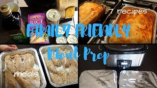 Family Friendly Freezer Cooking and Meal Prep | 7 recipes | 12+ meals