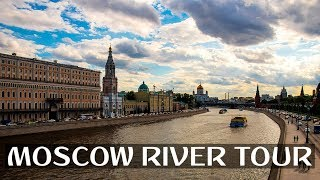 MOSCOW SIGHTSEEING 🇷🇺 | MOSCOW RIVER BOAT TOUR ⛴️