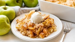 apple cobbler with yellow cake mix