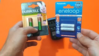Which AAA Rechargeable Battery is the Best -  Duracell vs Eneloop