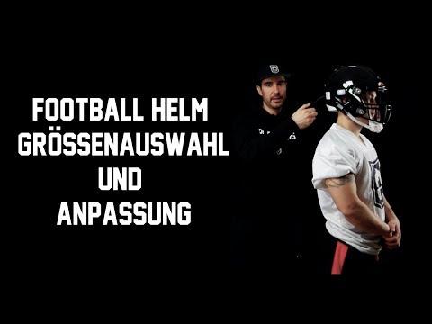 American Football Helm Größenbestimmung und Anpassung