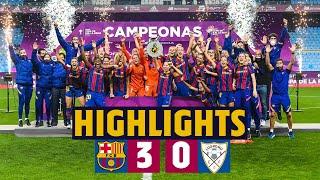 HIGHLIGHTS | Barça 3-0Logroño| Victory in theCopa De La Reinafinal!! 🔵🔴🏆