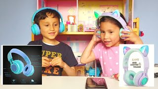 Best Kids Foldable Headphones | Bluetooth/Wireless, LED by Riwbox Review