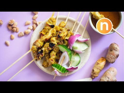 Malaysian Skewered Meat Satay | Chicken Satay [Nyonya Cooking]