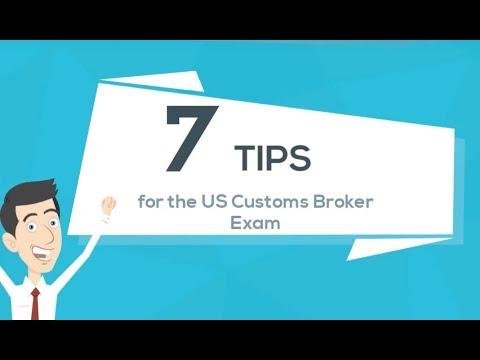 7 Tips for the US Customs Broker Exam - YouTube