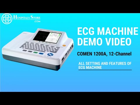 12 Channel ECG Machine,Comen CM1200A