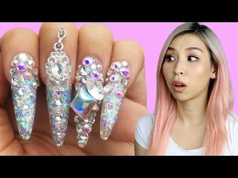 I Tried Extreme Japanese Nail Art! | Tina Tries It