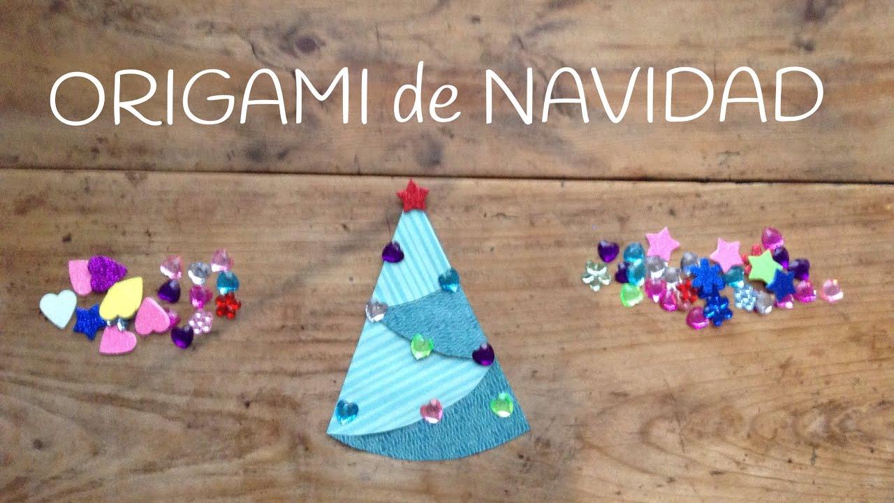 Origami fácil para niños, un divertido árbol de Navidad infantil