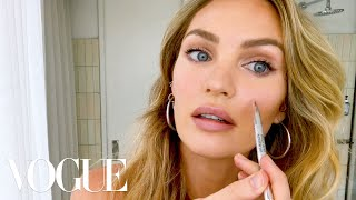 "Candice Swanepoel's 10-Minute Guide to ""Fake Natural"" Makeup and Faux Freckles 
