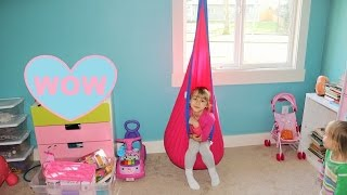Harkla Hanging Seat For Kids IN ACTION- Swing Review By Kids