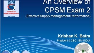 CPSM CERTIFICATION EXAM   2 OVERVIEW