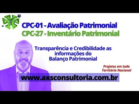 CPC 01 e CPC 27 - Ativo Imobilizado Avaliação Patrimonial Inventario Patrimonial Controle Patrimonial Controle Ativo
