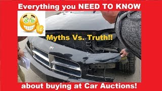 Dealer Car Auction Myths ** EVERYTHING YOU NEED TO KNOW!! ** Flying Wheels