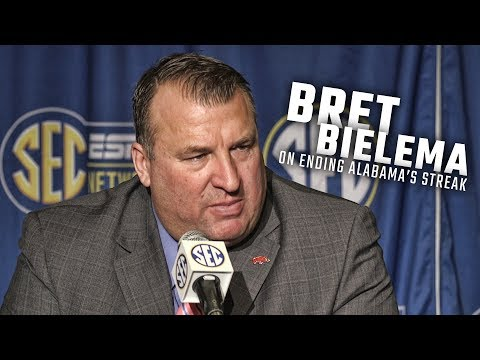 Bret Bielema discusses what it will take to end Alabama's win-streak over Arkansas